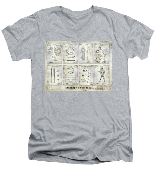 Baseball Patent History Men's V-Neck T-Shirt