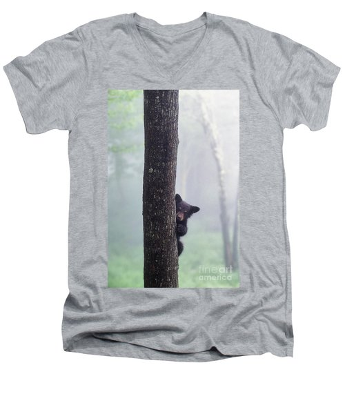 Bashful Bear Cub - Fs000230 Men's V-Neck T-Shirt