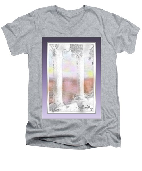 Sacre - Coeur Sunset Men's V-Neck T-Shirt