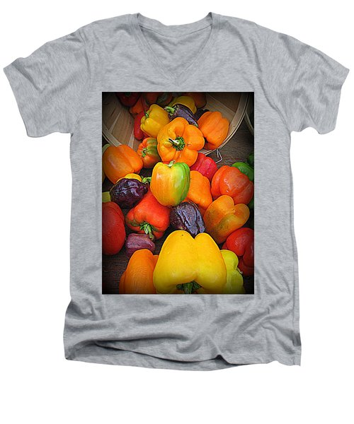 Basket Full O'peppers Men's V-Neck T-Shirt