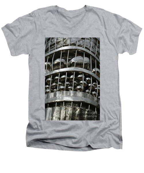 Basket Of Farmer's Produce. Men's V-Neck T-Shirt