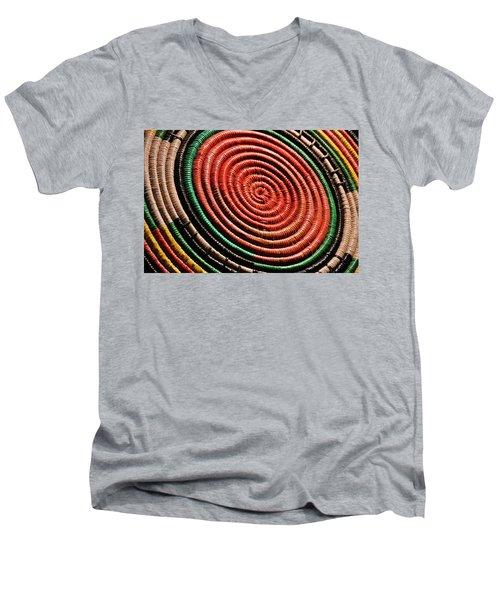 Basketry Color Men's V-Neck T-Shirt