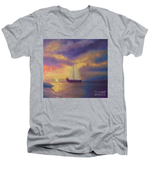 Basking In The Sun Men's V-Neck T-Shirt