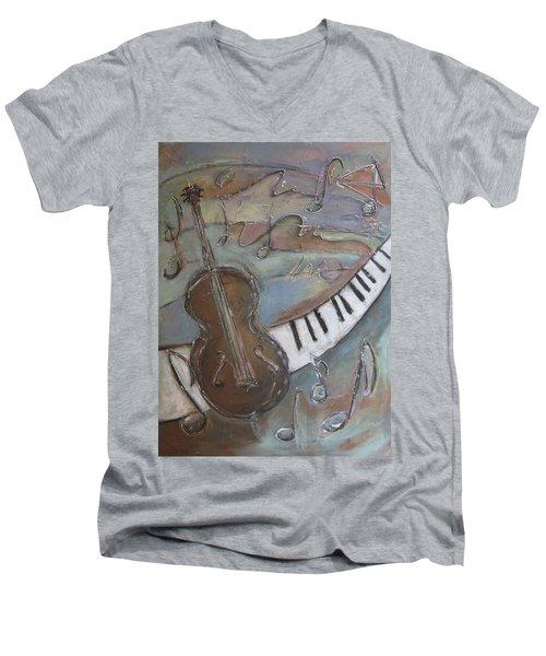Bass And  Keys Men's V-Neck T-Shirt