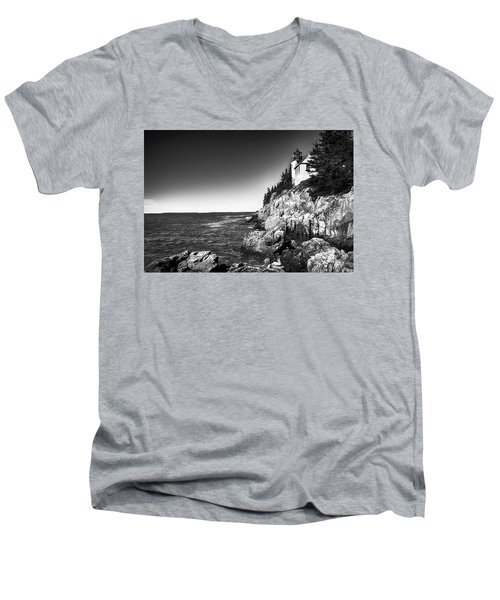 Bass Harbor Head Lighthouse Men's V-Neck T-Shirt