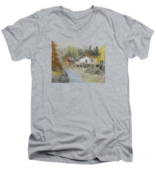 Bass Harbor Retreat Men's V-Neck T-Shirt