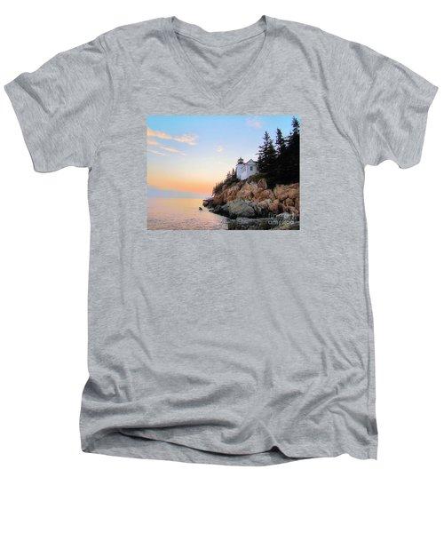 Bass Harbor Sunset II Men's V-Neck T-Shirt