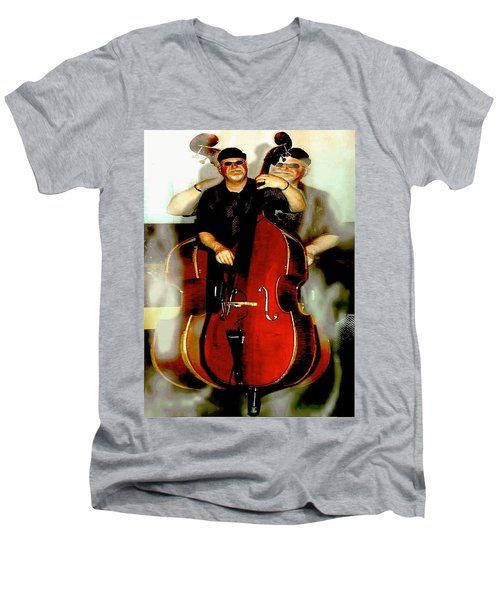 Bassman Men's V-Neck T-Shirt by Sadie Reneau