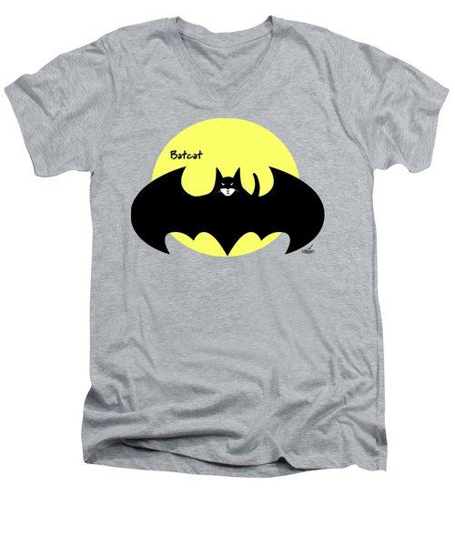 Batcat Men's V-Neck T-Shirt