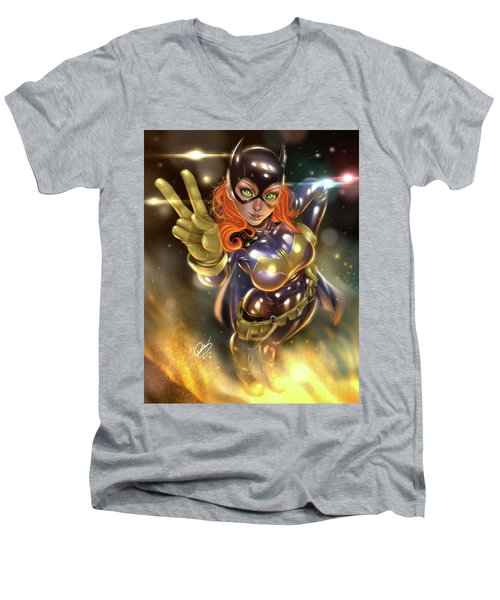 Batgirl Men's V-Neck T-Shirt