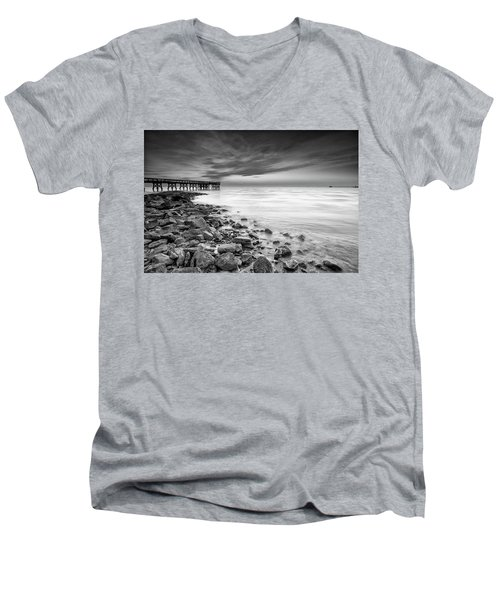Bathe In The Winter Sun Men's V-Neck T-Shirt by Edward Kreis