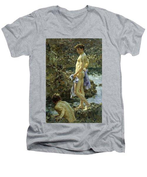 Bathing Group Of 1914 Men's V-Neck T-Shirt