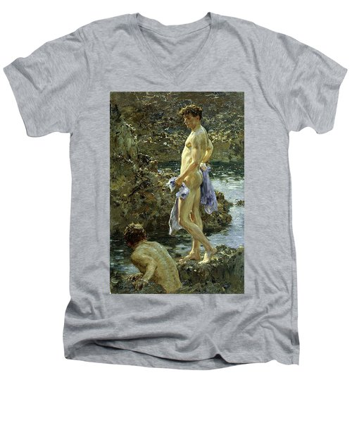 Bathing Group Of 1914 Men's V-Neck T-Shirt
