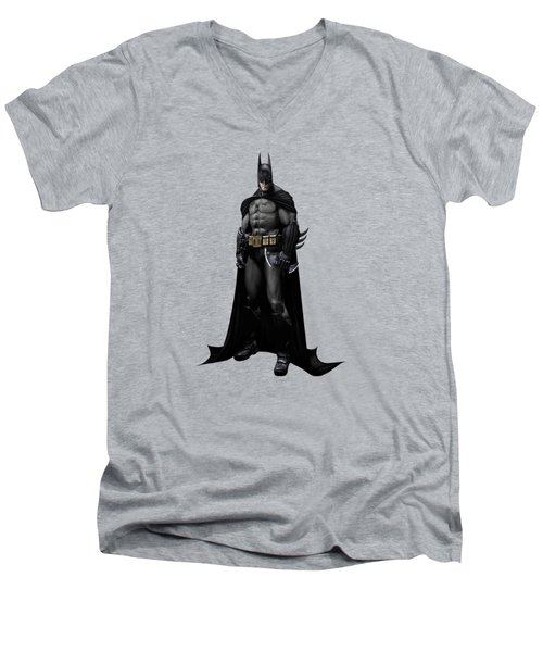 Batman Splash Super Hero Series Men's V-Neck T-Shirt