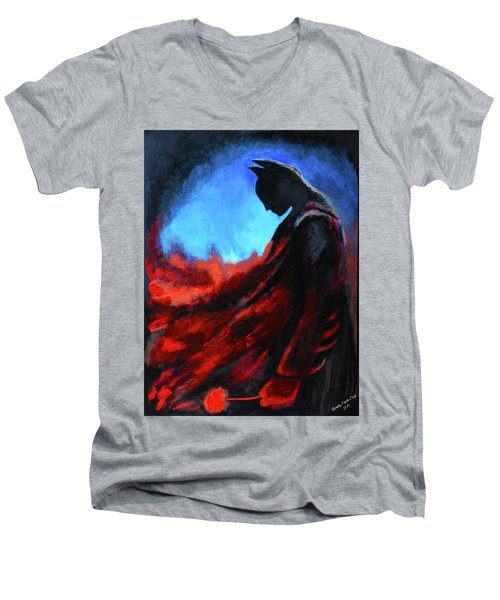 Batman's Mercy Men's V-Neck T-Shirt