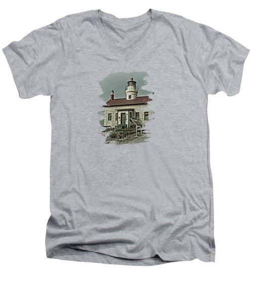 Battery Point Lighthouse Men's V-Neck T-Shirt