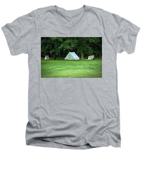 Battlefield Camp Men's V-Neck T-Shirt