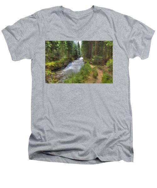 Bavarian Forest Stream Men's V-Neck T-Shirt