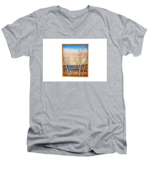 Bay Birch Men's V-Neck T-Shirt