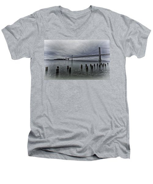 Bay Bridge Men's V-Neck T-Shirt