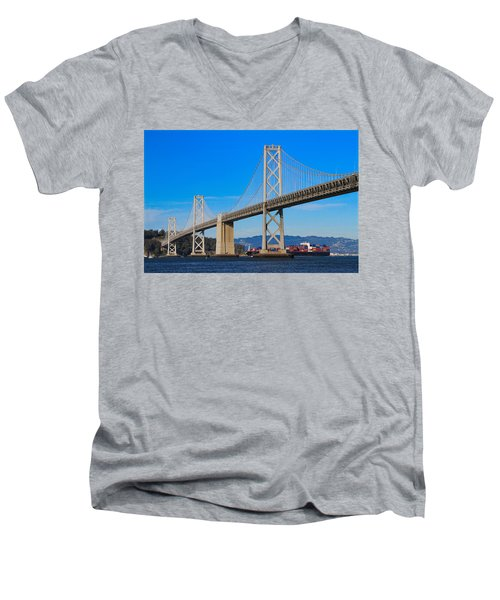 Bay Bridge With Apl Houston Men's V-Neck T-Shirt