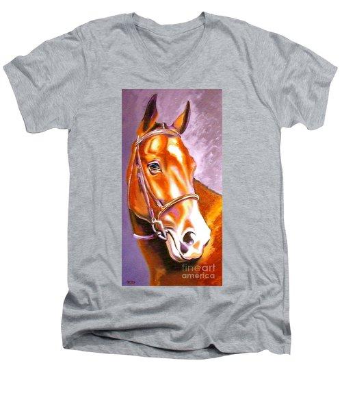 Oldenburg Sport Horse Champion Men's V-Neck T-Shirt