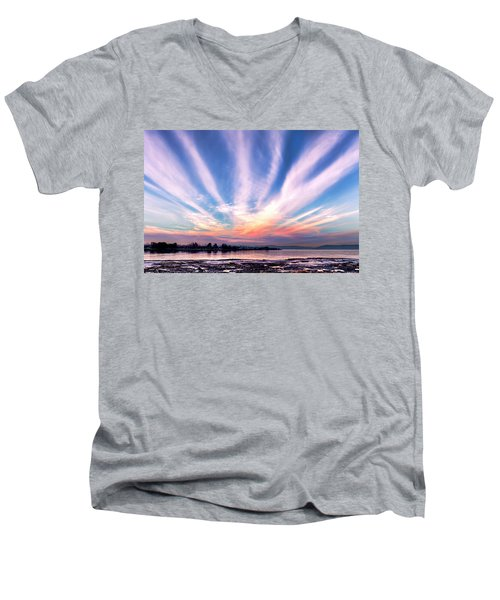 Bay Farm Island Sunrise Men's V-Neck T-Shirt