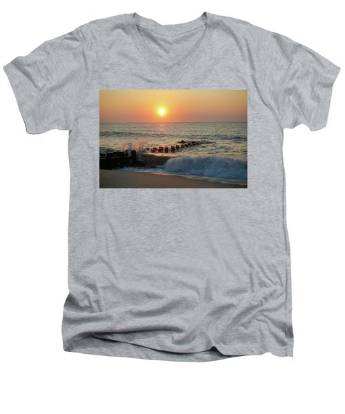 Bay Head Beach Sunrise 1 Men's V-Neck T-Shirt