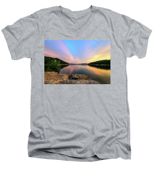 Bay Light Men's V-Neck T-Shirt