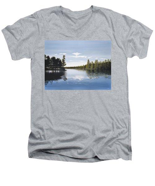 Bay On Lake Muskoka Men's V-Neck T-Shirt