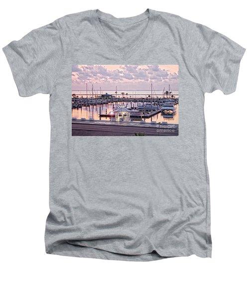 Bay Sunrise Men's V-Neck T-Shirt