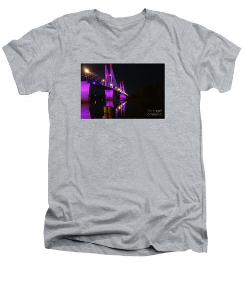 Bay View Reflection Post Men's V-Neck T-Shirt by Justin Moore
