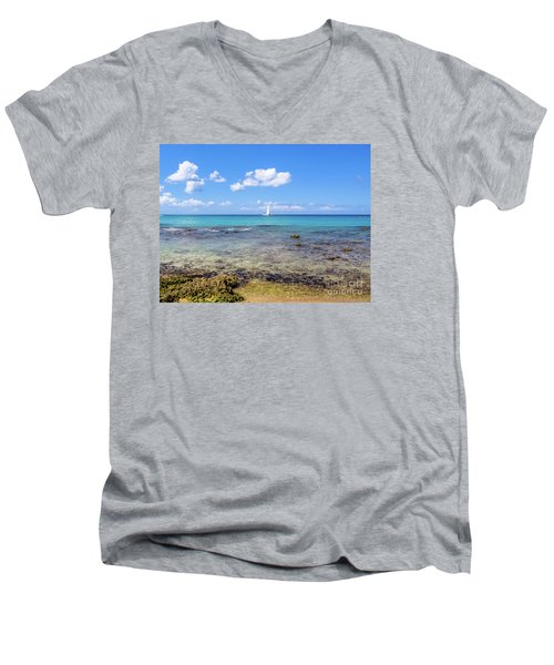 Bayahibe Coral Reef Men's V-Neck T-Shirt