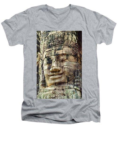 Bayon 2 Men's V-Neck T-Shirt by Werner Padarin