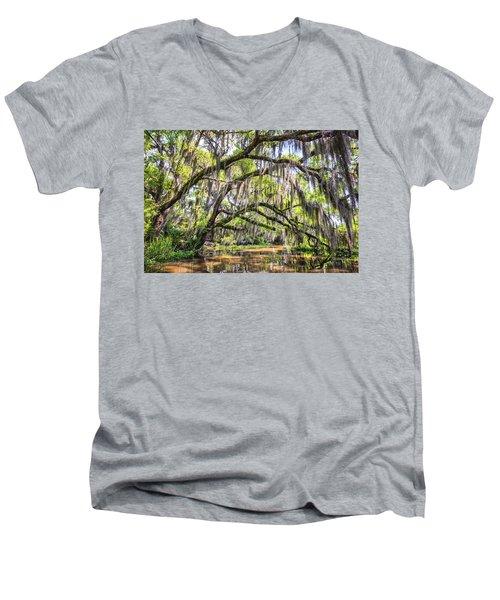 Bayou Cathedral Men's V-Neck T-Shirt