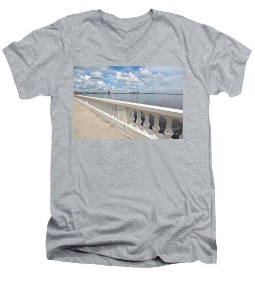 Bayshore Boulevard Balustrade Men's V-Neck T-Shirt