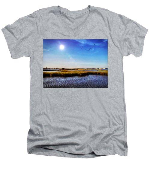 Bayside Men's V-Neck T-Shirt