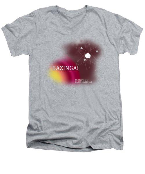 Bazinga Men's V-Neck T-Shirt by Paulette B Wright