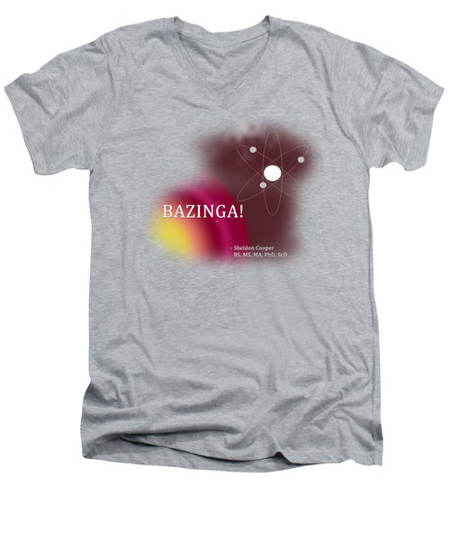 Bazinga Men's V-Neck T-Shirt