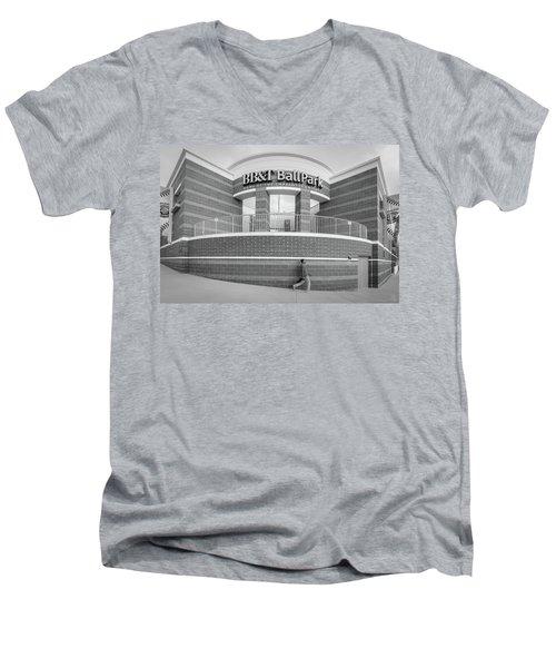 Bbt Ballpark Building Men's V-Neck T-Shirt