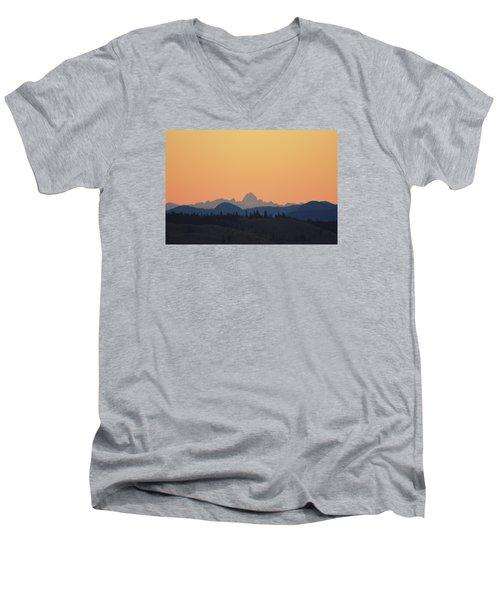 B C Dawn Men's V-Neck T-Shirt by Ed Hall