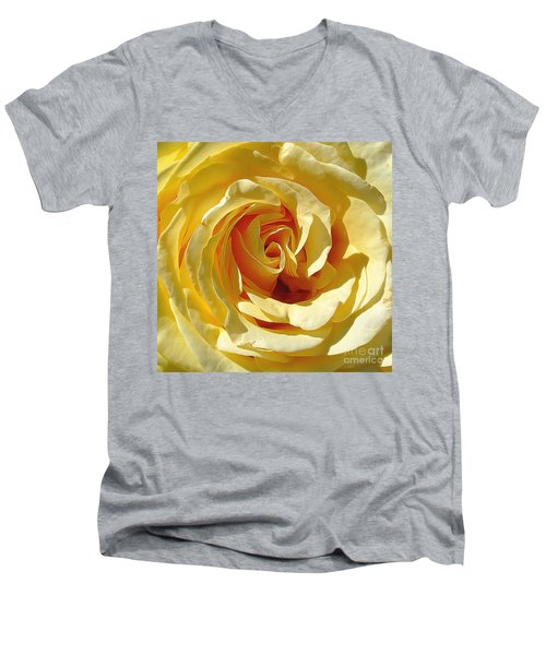 Be Still And Know Men's V-Neck T-Shirt by Gina Savage