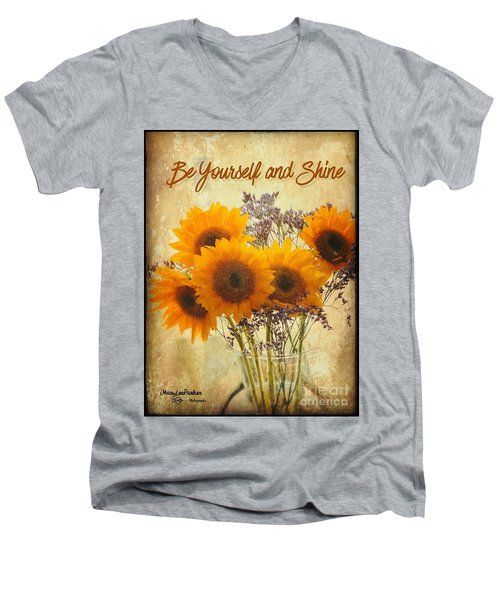 Be Yourself And Shine Men's V-Neck T-Shirt