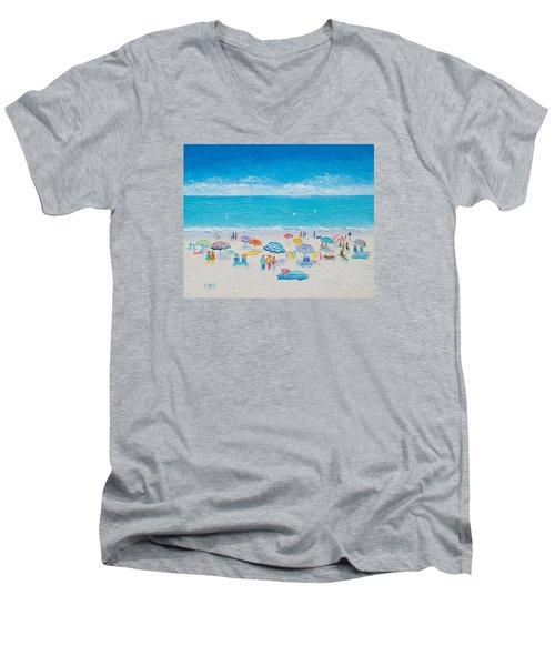 Beach Art - Fun In The Sun Men's V-Neck T-Shirt