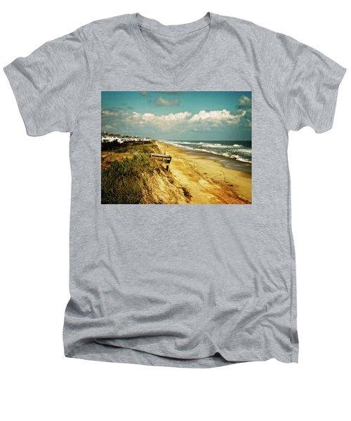 Beach At Corolla Men's V-Neck T-Shirt