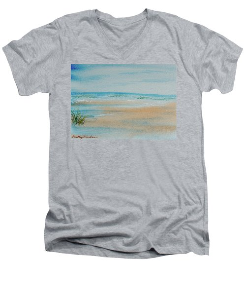 Beach At High Tide Men's V-Neck T-Shirt