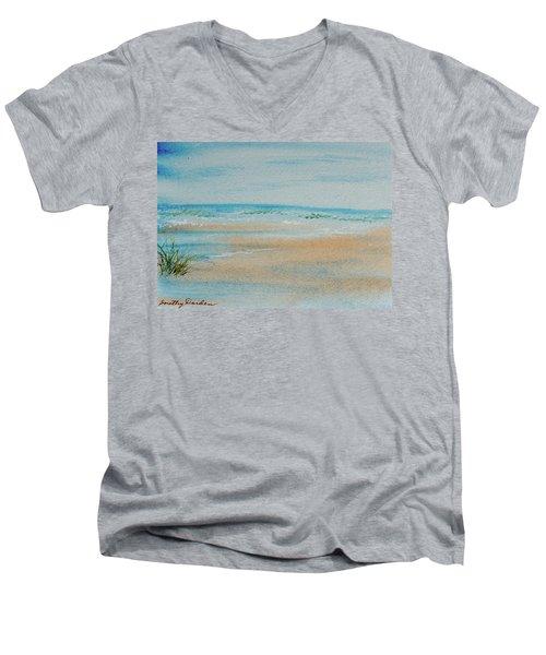 Beach At High Tide Men's V-Neck T-Shirt