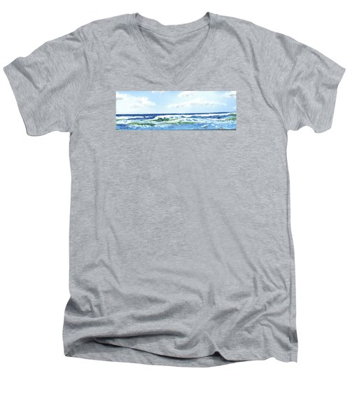 Beach At Isle Of Palms Men's V-Neck T-Shirt