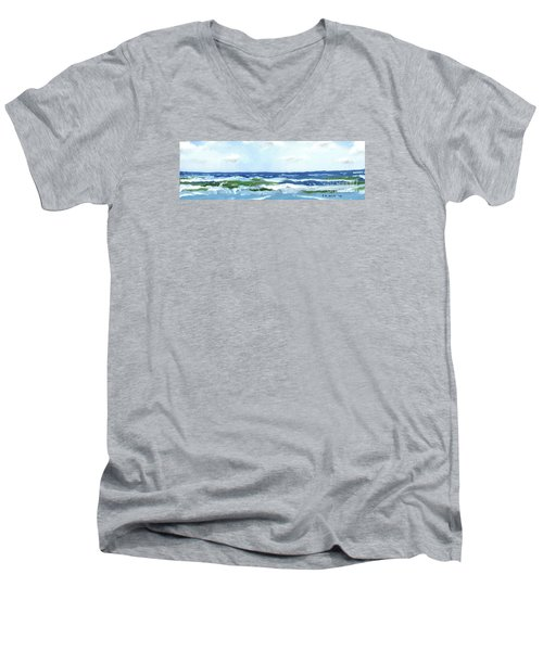 Beach At Isle Of Palms Two Men's V-Neck T-Shirt