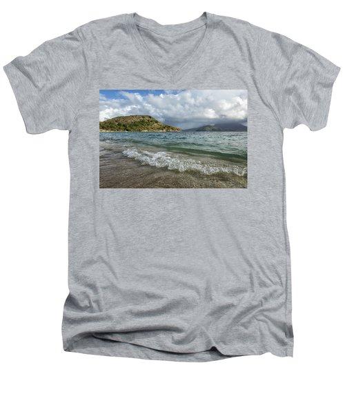 Beach At St. Kitts Men's V-Neck T-Shirt